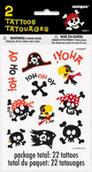 PIRATE FUN 2 TATTOO SHEETS