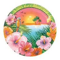 "LUAU PARTY 8 x 18cm (7"") PAPER PLATES"