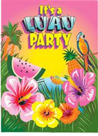 LUAU PARTY 8 INVITATIONS
