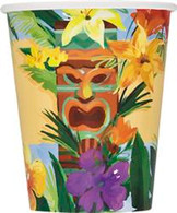 TIKI TROPICS 8 x 270ml (9oz) PAPER CUPS