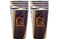NRL PARTY CUPS BRONCOS 6PK 500ML