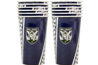 NRL PARTY CUPS BULLDOGS 6PK 500ML