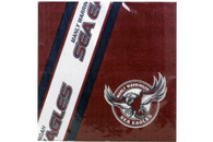 NRL PARTY NAPKINS SEA EAGLES 12PK 33*33CM