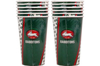 NRL PARTY CUPS RABBITOHS 6PK 500ML
