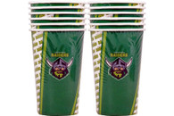 NRL PARTY CUPS RAIDERS 6PK 500ML