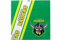 NRL PARTY NAPKINS RAIDERS 12PK 33*33CM