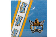 NRL PARTY NAPKINS TITANS 12PK 33*33CM