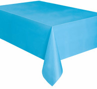"POWDER BLUE PLASTIC TABLECOVER RECTANGLE 137cm X 274cm (54"" X 108"")"