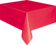 """RUBY RED UNIQUE PLASTIC TABLECOVER RECTANGLE 137cm X 274cm (54"""" X 108"""")"""