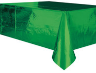 "METALLIC GREEN PLASTIC TABLECOVER RECTANGLE 137cm X 274cm (54"" X 108"")"