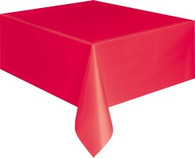 """RED METEOR PLASTIC TABLECOVER RECTANGLE 137cm X 274cm (54"""" X 108"""")"""