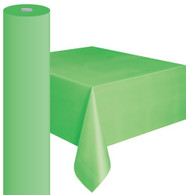 "LIME GREEN METEOR PLASTIC TABLECOVER ROLL 122cm W X 30m L (48""X100')"