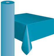 "ELECTRIC BLUE METEOR PLASTIC TABLECOVER ROLL 122cm W X 30m L (48""X100')"