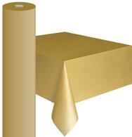 "GOLD METEOR PLASTIC TABLECOVER ROLL 122cm W X 30m L (48""X100')"