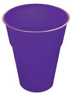 PRETTY PURPLE 25 X 270ml (9oz) PLASTIC CUPS