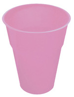 LOVELY PINK 12 X 270ml (9oz) PLASTIC CUPS