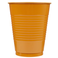PUMPKIN ORANGE 12 X 270ml (9oz) PLASTIC CUPS