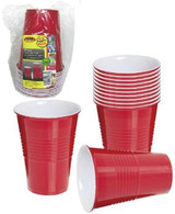 Red USA Style Disposable Plastic Cups (16OZ) 500ML-12PK