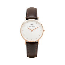 Daniel Wellington Women's Classy Bristol Rose Gold Tone Swarovski Index 26mm Watch