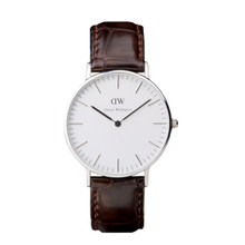 Daniel Wellington Women's Classic York Silver Tone 36mm Watch
