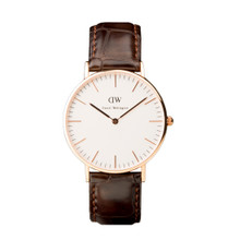 Daniel Wellington Women's Classis York Rose Gold Tone 36mm Watch