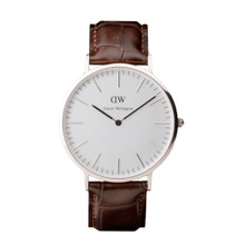 Daniel Wellington Men's Classic York Silver Tone 40mm Watch