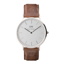 Daniel Wellington Men's Classic Cardiff Silver Tone 40mm Watch