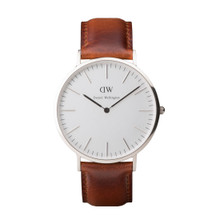 Daniel Wellington Men's Classis St Andrews  Silver Tone 40mm Watch