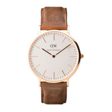 Daniel Wellington Men's Classic Cardiff Rose Gold Tone 40mm Watch