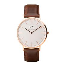 Daniel Wellington Men's Classic Bristol Rose Gold Tone 40mm Watch