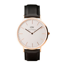 Daniel Wellington Men's Classic Sheffield Rose Gold Tone 40mm Watch