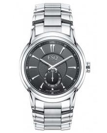 ESQ by Movado Quest Men's Black Dial Stainless Steel Swiss Quartz Watch 07301327