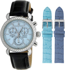 Sartego Ladies Diamond Strap Chronograph Blue Dial SDBP103B