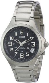Swiss Army Ladies Active Base Camp Stainless Steel Case and Bracelet Black Dial Date Display 241471