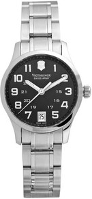 Swiss Army Ladies Alliance Stainless Steel Case and Bracelet Quartz Black Dial 241325
