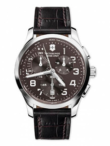 Swiss Army Men's Stainless Steel Alliance Quartz Chronograph Brown Dial Leather 241297