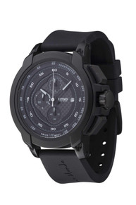 Ritmo Mundo Quantum I Stainless Steel and Black Aluminum Watch, 50mm