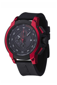 Ritmo Mundo Quantum I Stainless Steel and Red Aluminum Watch, 50mm