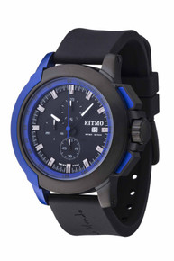 Ritmo Mundo Quantum II Stainless Steel and Blue Aluminum Watch, 50mm