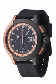 Ritmo Mundo Quantum II Stainless Steel and Rose Gold Aluminum Watch, 50mm