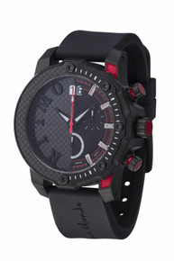 Ritmo Mundo Quantum III Collection Stainless Steel and Red Aluminum Watch, 50mm