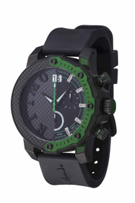 Ritmo Mundo Quantum III Collection Stainless Steel and Green Aluminum Watch, 50mm