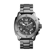 Fossil Men's Modern Machine Chronograph Stainless Steel Watch - Smoke FS5017