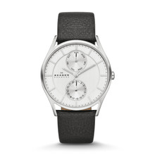 Skagen Holst Men's Multifunction Leather Watch SKW6065
