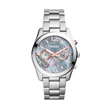 Fossil Ladies Perfect Boyfriend Multifunction Stainless Steel Watch ES3880 Gray