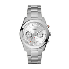 Fossil Ladies Perfect Boyfriend Watch In Silvertone ES3883