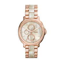 Fossil Ladies Chelsey Multifunction Stainless Steel And Acetate Watch Two-Tone ES3890