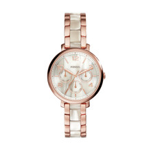 Fossil Ladies Jacqueline ES3921 Rose Gold Stainless-Steel Quartz Watch ES3921