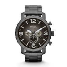 Fossil Men's 'Nate' Chronograph Smoke Watch JR1437