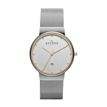 Skagen Men's Two Tone Mesh Band Watch 355LGSC